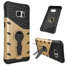 For Galaxy S7 Gold Rotating Spin Tough Armor TPU+PC Case with Holder