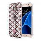 For Galaxy S7 Rose Gold URBAN KNIGHT Grid Texture PC + TPU Protective Case