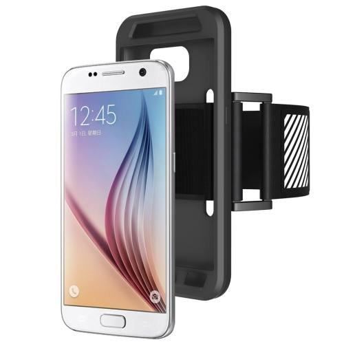 For Galaxy S7 Black Sport Armband with Detachable Premium Silicone Case