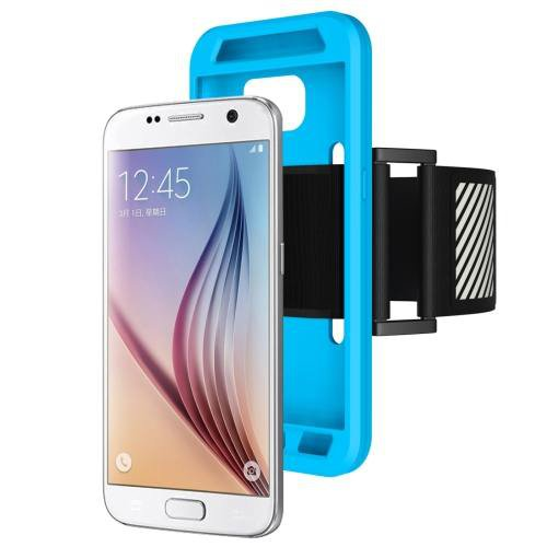 For Galaxy S7 Blue Sport Armband with Detachable Premium Silicone Case