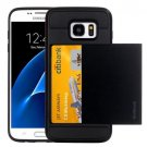 For Galaxy S7 Black Verus Slide Style TPU + PC Case with Card Slot