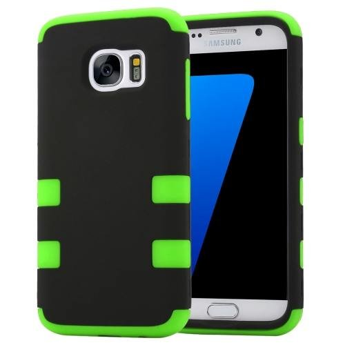 For Galaxy S7 Green Shock-resistant Silicone + PC Protective Case