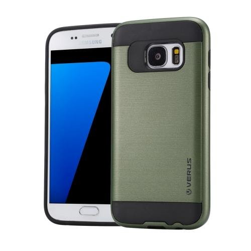 For Galaxy S7 Army Green Verus Brushed Texture PC + TPU Protective Case