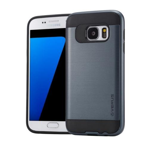 For Galaxy S7 Dark Blue Verus Brushed Texture PC + TPU Protective Case