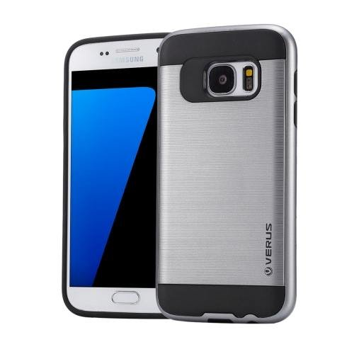 For Galaxy S7 Grey Verus Brushed Texture PC + TPU Protective Case