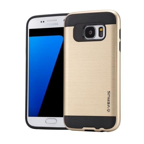For Galaxy S7 Gold Verus Brushed Texture PC + TPU Protective Case