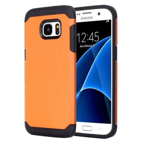 For Galaxy S7 Orange TPU + PC Armor Combination Case