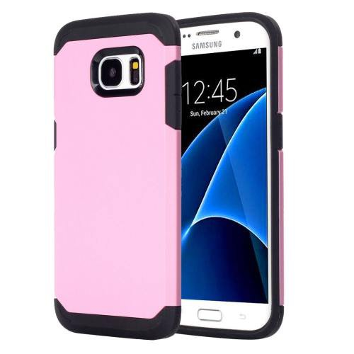 For Galaxy S7 Pink TPU + PC Armor Combination Case