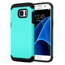 For Galaxy S7 Green TPU + PC Armor Combination Case