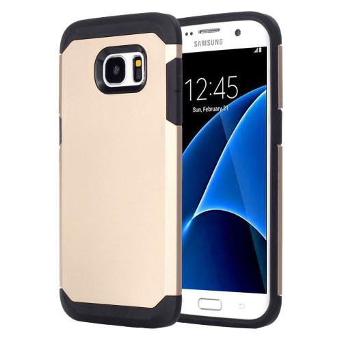 For Galaxy S7 Gold TPU + PC Armor Combination Case