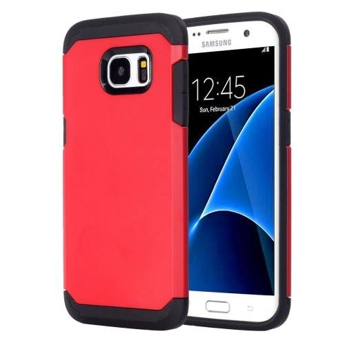 For Galaxy S7 Red TPU + PC Armor Combination Case
