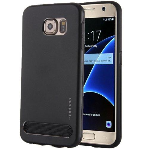 For Galaxy S7 Black MOTOMO Armor Metal + TPU Protective Case