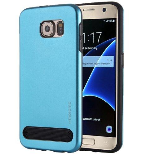 For Galaxy S7 Blue MOTOMO Armor Metal + TPU Protective Case