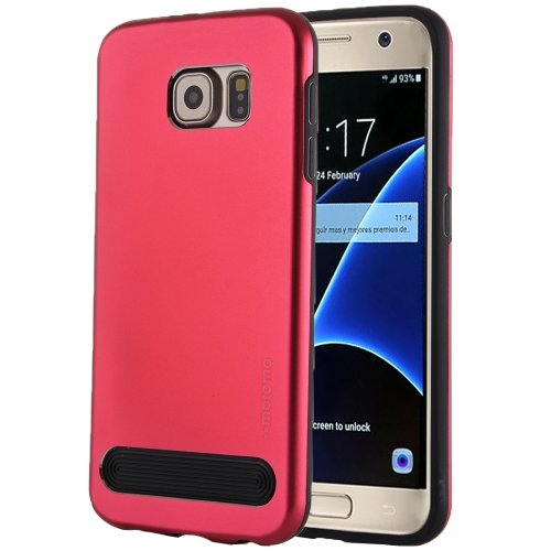 For Galaxy S7 Red MOTOMO Armor Metal + TPU Protective Case