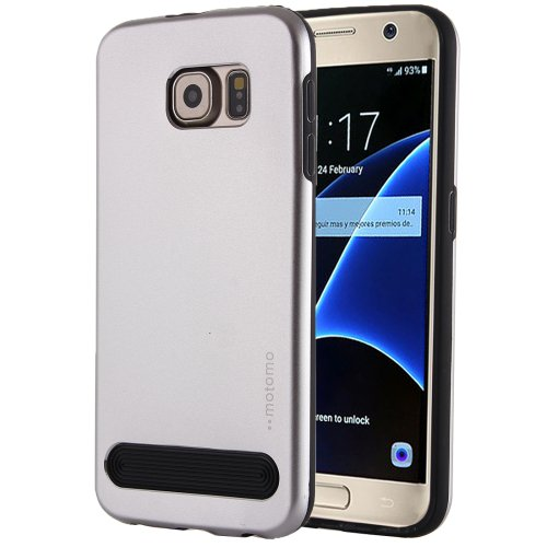 For Galaxy S7 Silver MOTOMO Armor Metal + TPU Protective Case