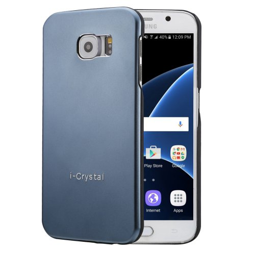 For Galaxy S7 Dark Blue Heat Radiation Design Armor Metal + PC Protective Case
