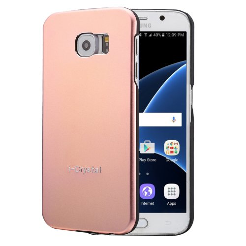 For Galaxy S7 Rose Gold Heat Radiation Design Armor Metal + PC Protective Case