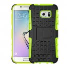 For Galaxy S7 Green Tire Combination Case with Separable Black Holder