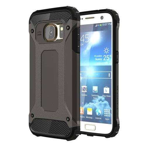 For Galaxy S7 Black Tough Armor TPU + PC Combination Case