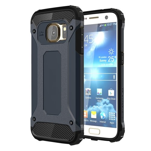 For Galaxy S7 Dark Blue Tough Armor TPU + PC Combination Case