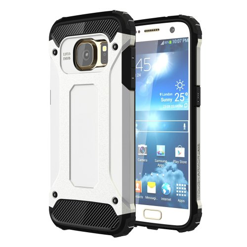 For Galaxy S7 White Tough Armor TPU + PC Combination Case