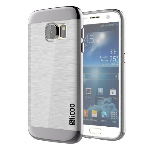 For Galaxy S7 Black Slicoo Separable Brushed TPU + Electroplating PC Case