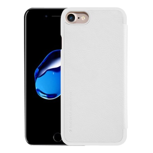 For iPhone 7 White NILLKIN QIN Flip Leather Case with Card Slot