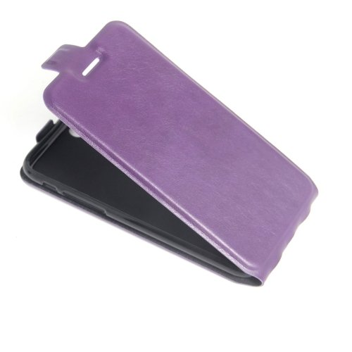 For iPhone 7 Purple Vertical Flip Leather Case with Card Slot & Photo Frame
