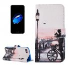 For iPhone 7 Bicycle Pattern PU Leather Case with Holder, Card Slots & Wallet