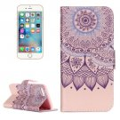 For iPhone 7 Lotus Leather Case with Holder & Card Slots & Wallet