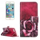 For iPhone 7 Rose Leather Case with Holder & Card Slots & Wallet