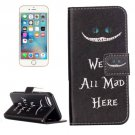 For iPhone 7 Cat Leather Case with Holder & Card Slots & Wallet