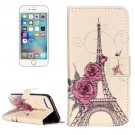 For iPhone 7 Rose Tower Leather Case with Holder & Card Slots & Wallet