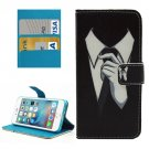 For iPhone 7 Painting Tie Leather Case with Holder & Card Slots & Wallet