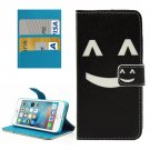 For iPhone 7 Smiling Face Leather Case with Holder & Card Slots & Wallet