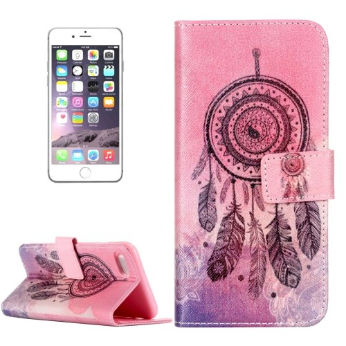 For iPhone 7 Windbell Leather Case with Holder & Card Slots & Wallet