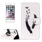 For iPhone 7 Feather Leather Case with Holder & Card Slots & Wallet