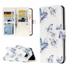 For iPhone 7 Butterflies Leather Case with Holder & 9 Card Slots & Wallet