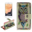 For iPhone 7 Owl Pattern Leather Case with Holder, Card Slots & Wallet