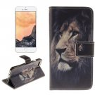 For iPhone 7 Lion Pattern Leather Case with Holder, Card Slots & Wallet