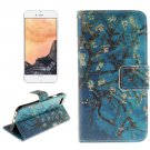 For iPhone 7 Plum Pattern Leather Case with Holder, Card Slots & Wallet