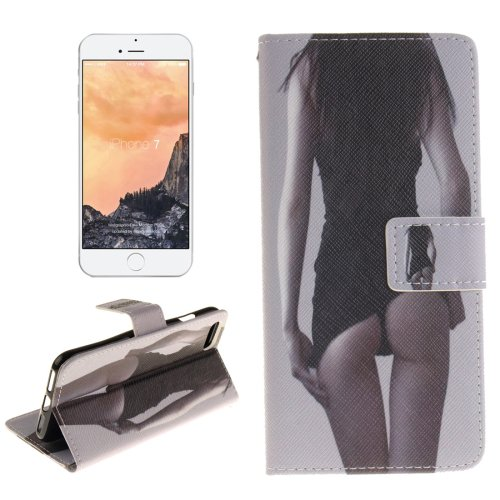 For iPhone 7 Sexy Pattern Leather Case with Holder, Card Slots & Wallet