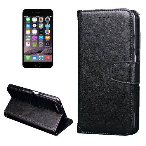 For iPhone 7 Black Knead Skin Leather Case with Holder, Card Slots & Wallet