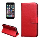 For iPhone 7 Red Knead Skin Leather Case with Holder, Card Slots & Wallet