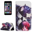 For iPhone 7 Glasses Cat Leather Case with Holder, Card Slots & Wallet