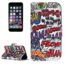 For iPhone 7 Street Graffiti Leather Case with Holder, Card Slots & Wallet