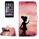 For iPhone 7 Wishing Girl Leather Case with Holder, Card Slots & Wallet