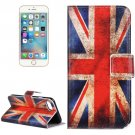 For iPhone 7 UK Flag Pattern Leather Case with Holder, Card Slots & Wallet