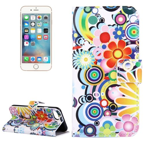 For iPhone 7 Fireworks Pattern Leather Case with Holder, Card Slots & Wallet
