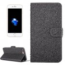 For iPhone 7 Plus Black Raindrops Leather Case with Holder & Card Slots